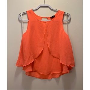 HOT PINK/CORAL colored women's fancy tank top